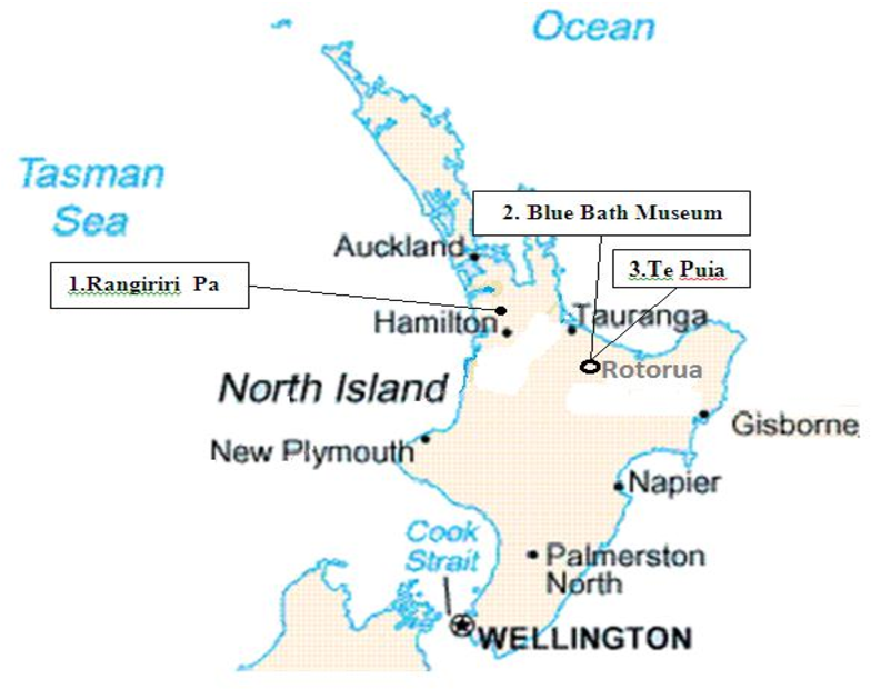 New Zealand Tourist Map North Island.Figure 3 16 From Visitors Satisfaction With Heritage Sites In New