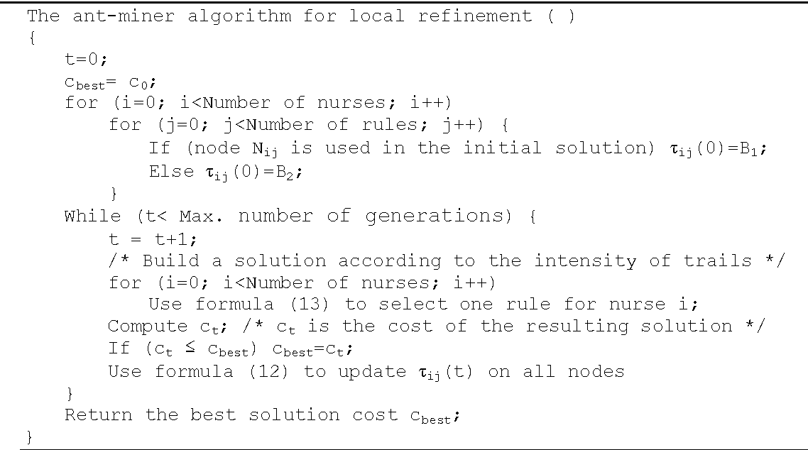 Figure 4 for An Estimation of Distribution Algorithm with Intelligent Local Search for Rule-based Nurse Rostering