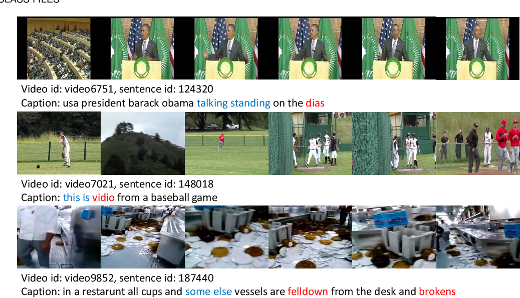 Figure 3 for Annotation Cleaning for the MSR-Video to Text Dataset