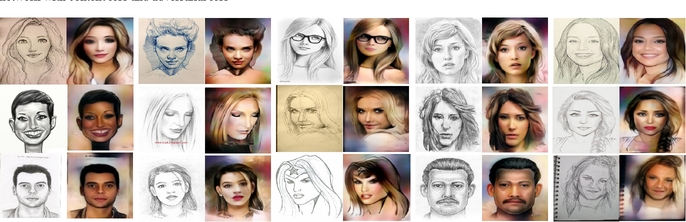 Figure 4 for Scribbler: Controlling Deep Image Synthesis with Sketch and Color