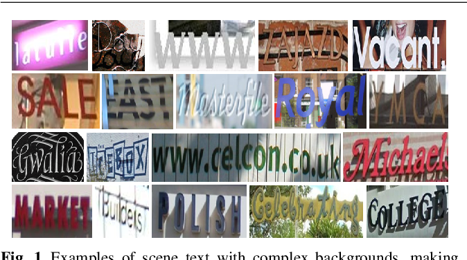 Figure 1 for Separating Content from Style Using Adversarial Learning for Recognizing Text in the Wild