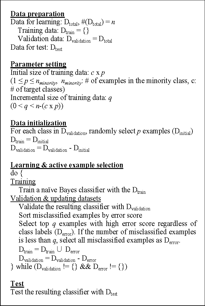 Aesnb Active Example Selection With Nave Bayes Classifier For