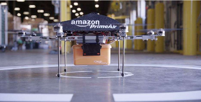 Figure 1.1: A detailed look at an Amazon's octocopter