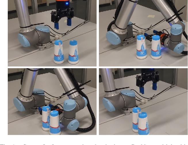 Figure 1 for Embracing Contact: Pushing Multiple Objects with Robot's Forearm