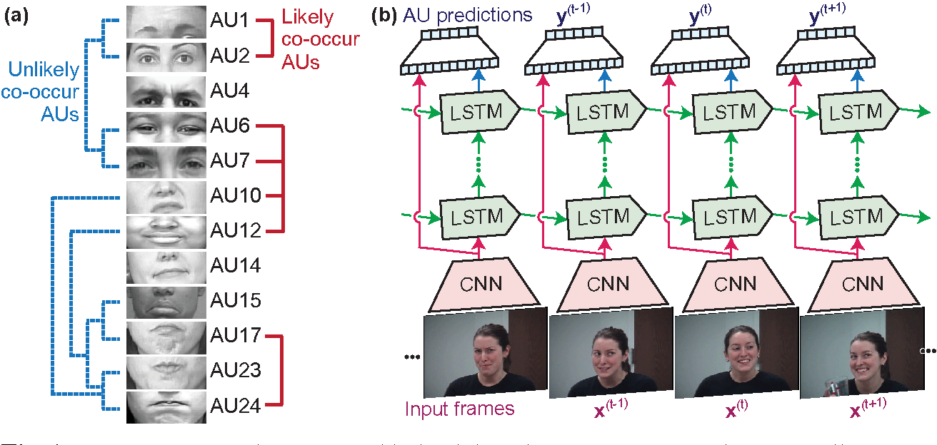 Figure 1 for Modeling Spatial and Temporal Cues for Multi-label Facial Action Unit Detection