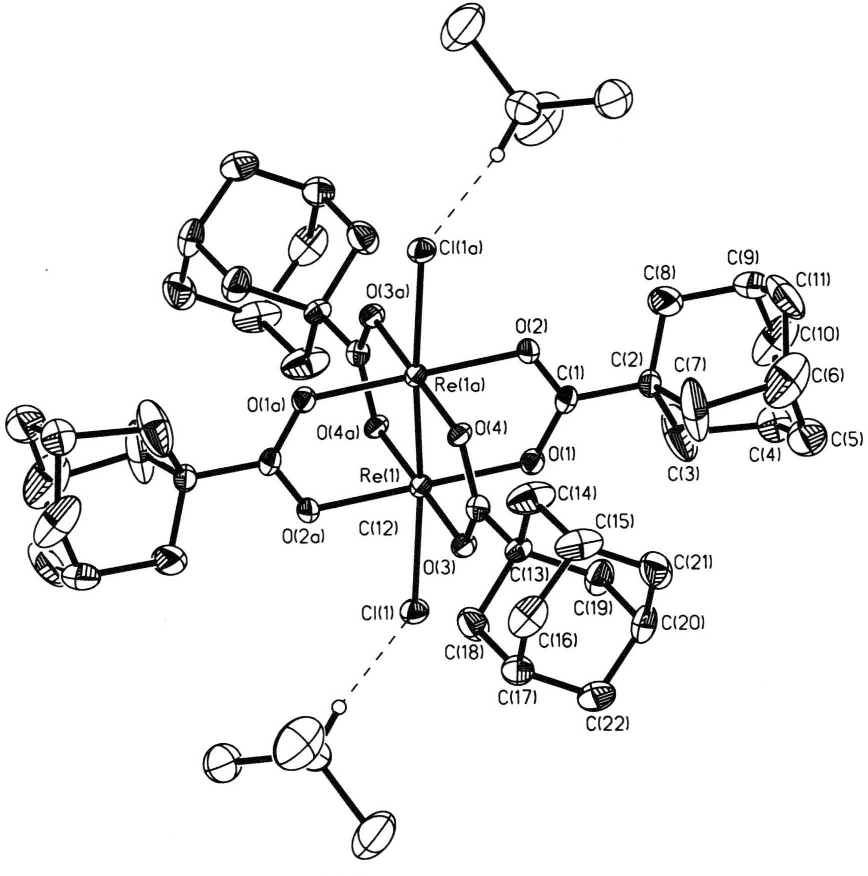 Figure 2 From Synthesis Of Novel Tetracarboxylato Dirheniumiii