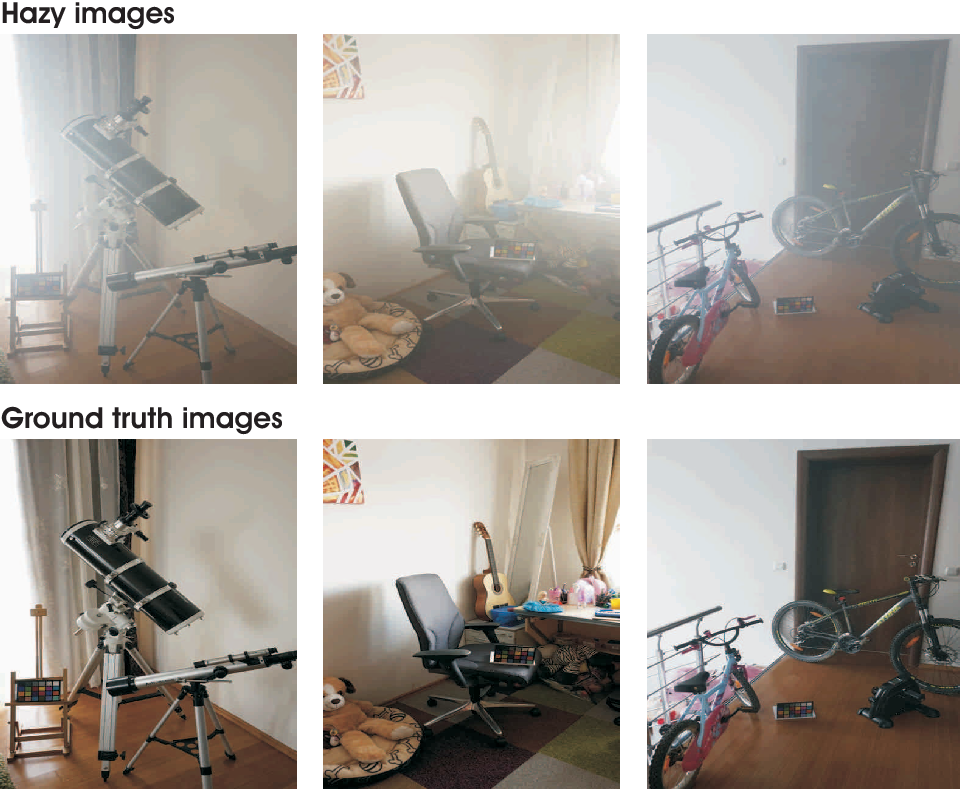 Figure 1 for I-HAZE: a dehazing benchmark with real hazy and haze-free indoor images