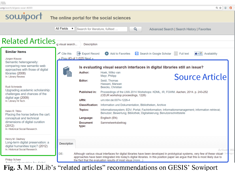 Figure 3 for The Architecture of Mr. DLib's Scientific Recommender-System API