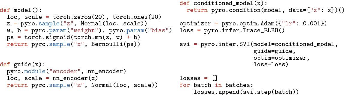 Figure 1 for Pyro: Deep Universal Probabilistic Programming