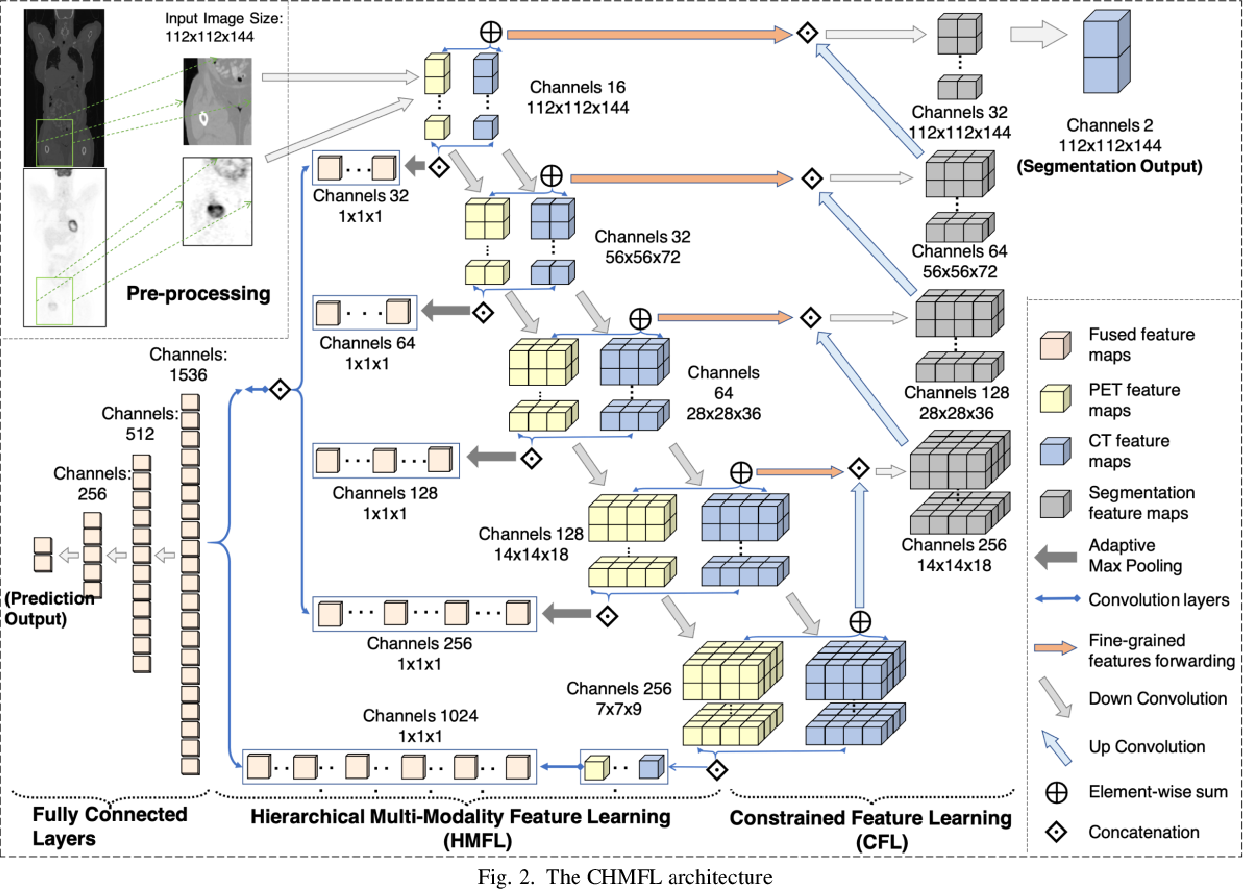 Figure 1 for Predicting Distant Metastases in Soft-Tissue Sarcomas from PET-CT scans using Constrained Hierarchical Multi-Modality Feature Learning