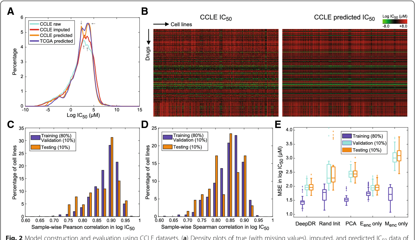 Figure 3 for Predicting drug response of tumors from integrated genomic profiles by deep neural networks