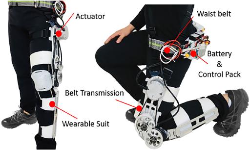 Figure 1 for Comfort-Centered Design of a Lightweight and Backdrivable Knee Exoskeleton