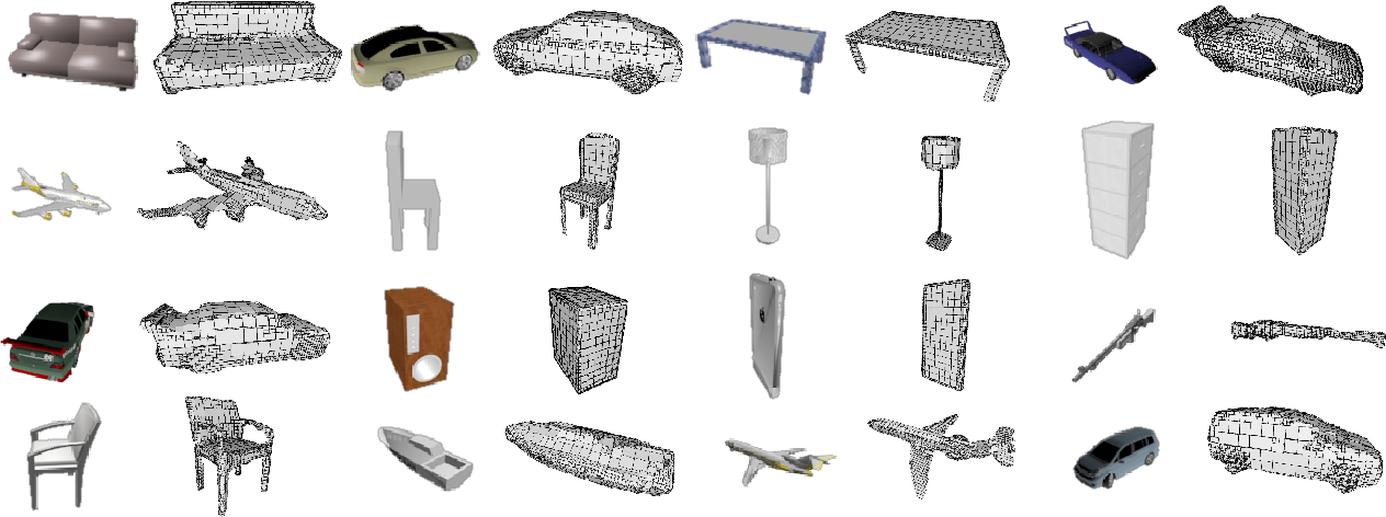 Figure 1 for Adaptive O-CNN: A Patch-based Deep Representation of 3D Shapes