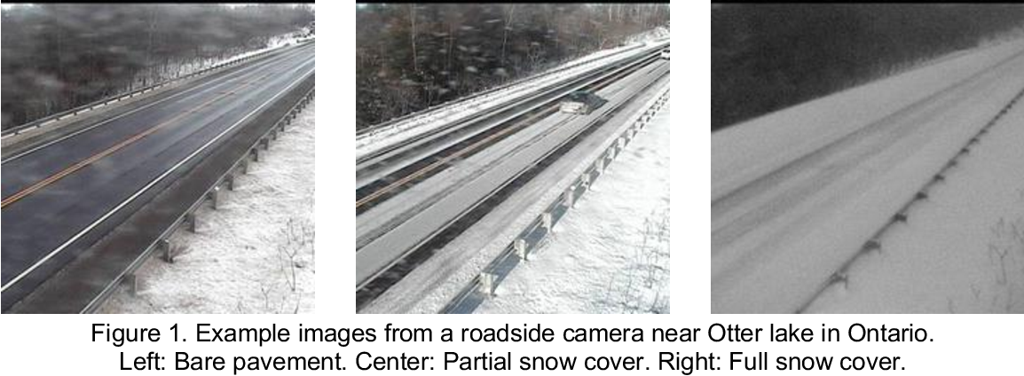 Figure 1 for Design of Efficient Deep Learning models for Determining Road Surface Condition from Roadside Camera Images and Weather Data