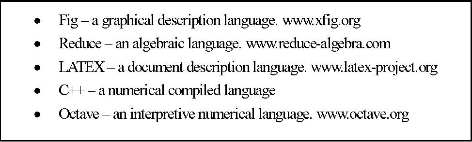 Figure A.3: Different languages describing the same representation