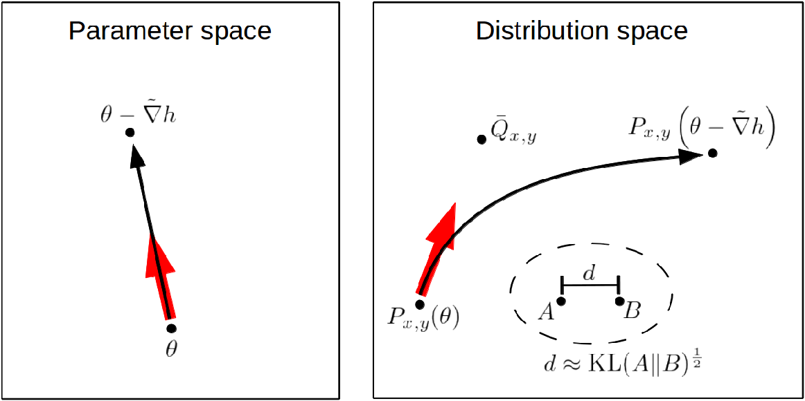 Figure 1 for New insights and perspectives on the natural gradient method