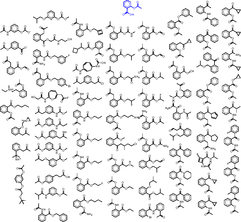 Figure 4 for Automatic chemical design using a data-driven continuous representation of molecules