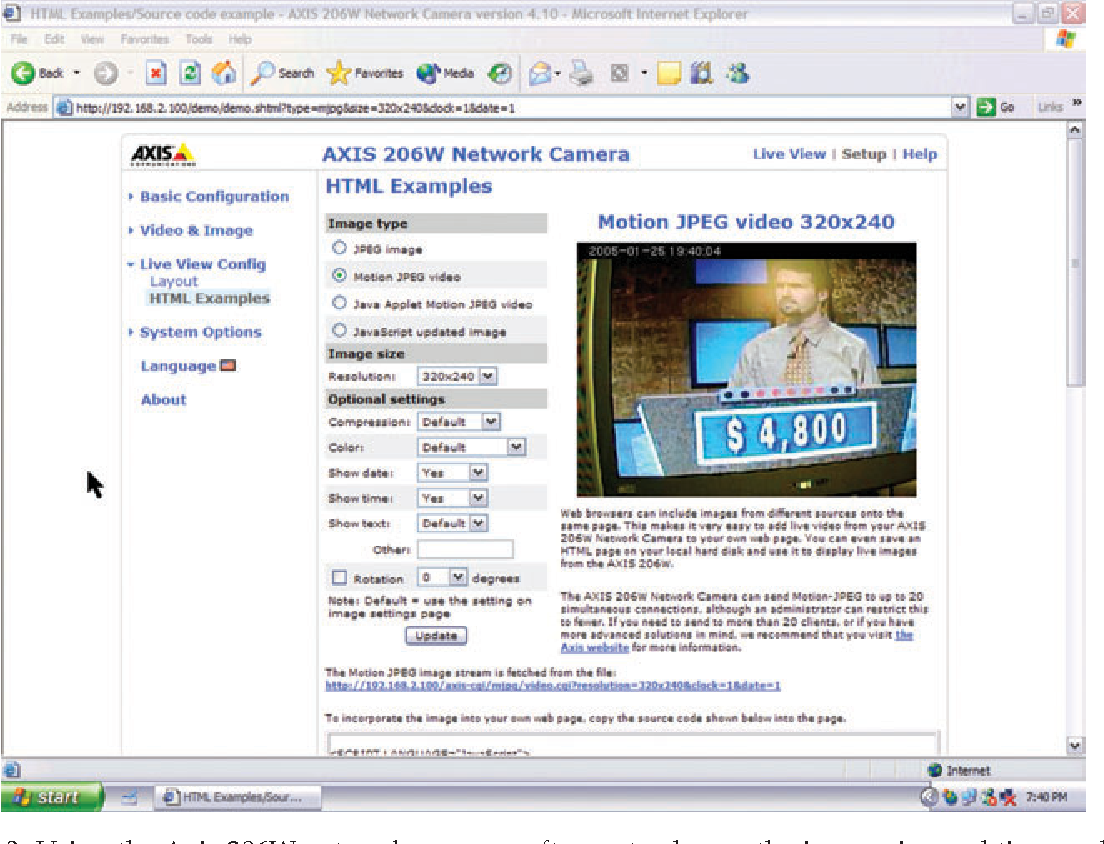 Figure 3 from Focus on Axis Communications' 206W wireless network