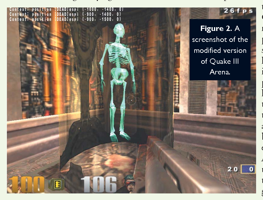 Testing and demonstrating context-aware services with Quake III
