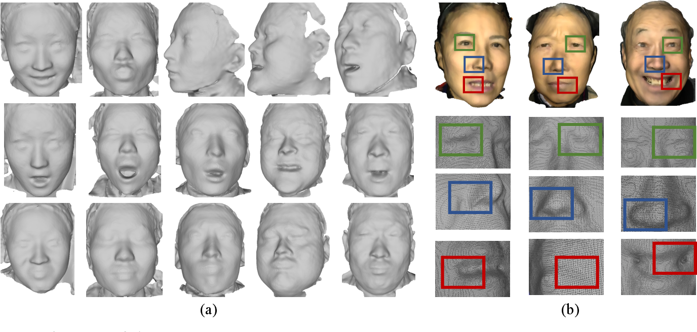 Figure 1 for Pixel-Face: A Large-Scale, High-Resolution Benchmark for 3D Face Reconstruction
