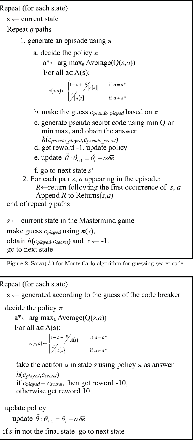 Figure 2 from Playing Mastermind Game by Using Reinforcement