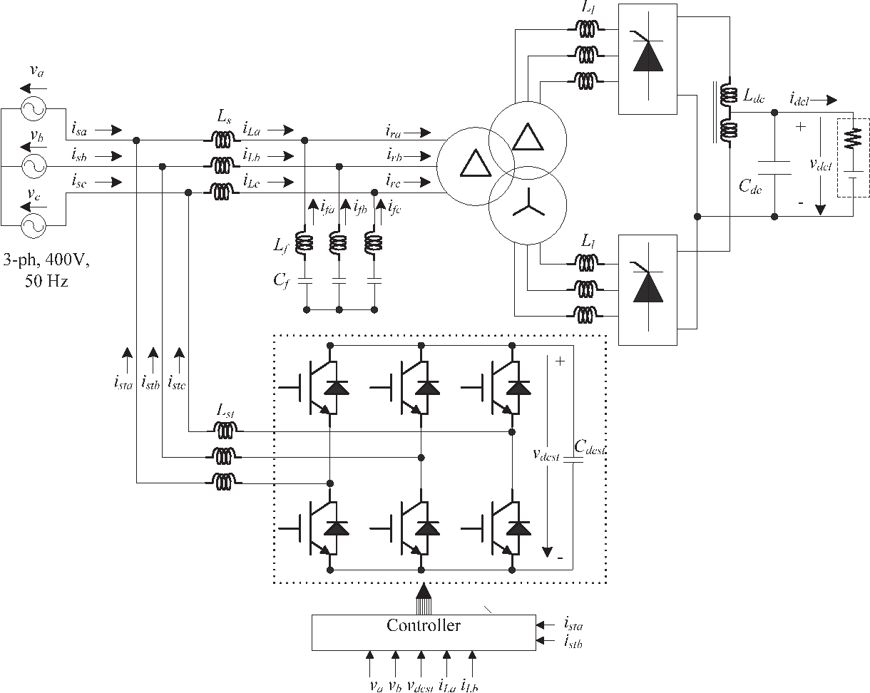Implementation Of Hybrid Filter For 12 Pulse Thyristor Rectifier A Sixphase Star Circuit This Supplying High Current Variable Voltage Dc Load Semantic Scholar