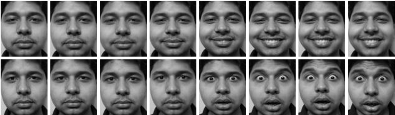 Figure 3 for Dynamic Model of Facial Expression Recognition based on Eigen-face Approach