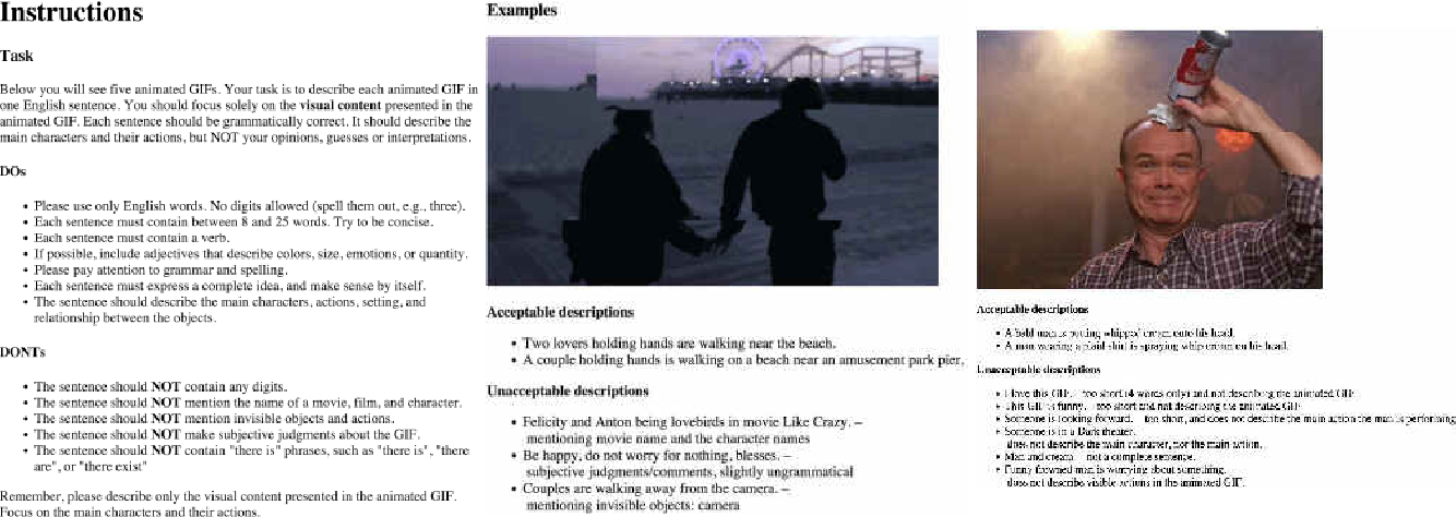 Figure 2 for TGIF: A New Dataset and Benchmark on Animated GIF Description