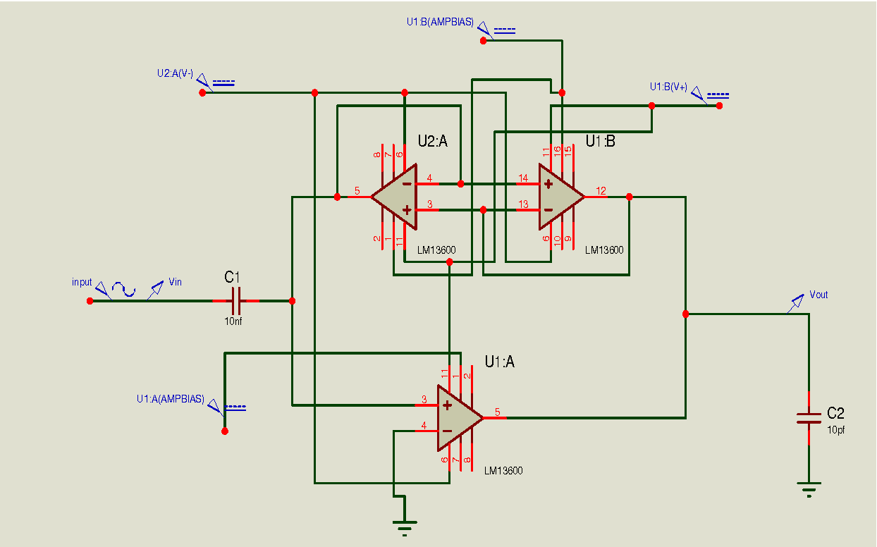 Figure 7 From Band Pass Design With Floating Resistor Simulation Tunable Filter Circuit Experimental Simulated