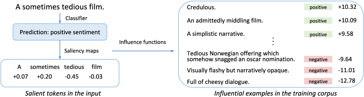Figure 1 for Explaining Black Box Predictions and Unveiling Data Artifacts through Influence Functions