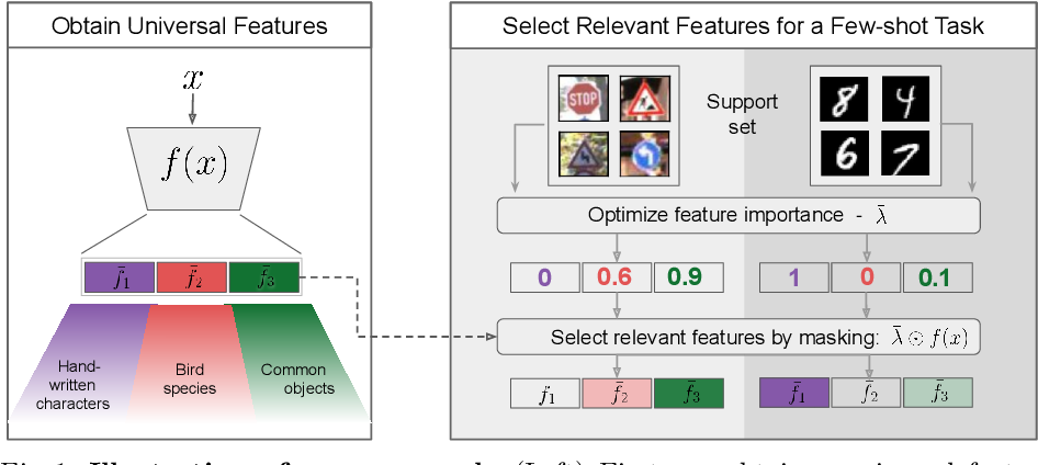 Figure 1 for Selecting Relevant Features from a Universal Representation for Few-shot Classification