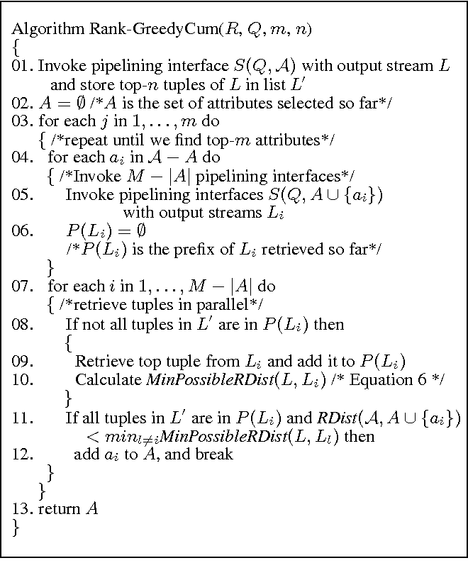 Figure 7 from Ordering the attributes of query results - Semantic