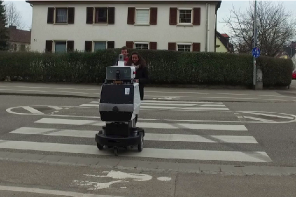 Figure 1 for Why did the Robot Cross the Road? - Learning from Multi-Modal Sensor Data for Autonomous Road Crossing