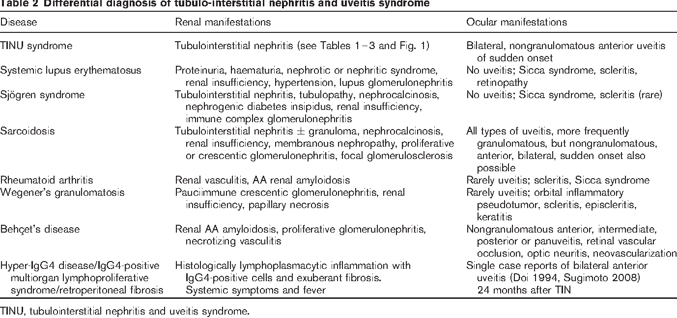 Interstitial nephritis: symptoms and treatment of renal inflammation
