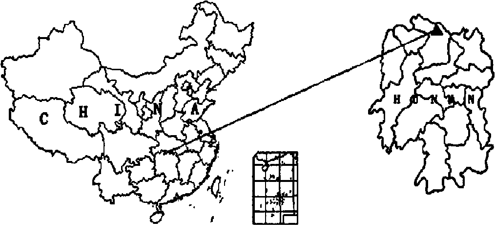 Fig. 1. Location of