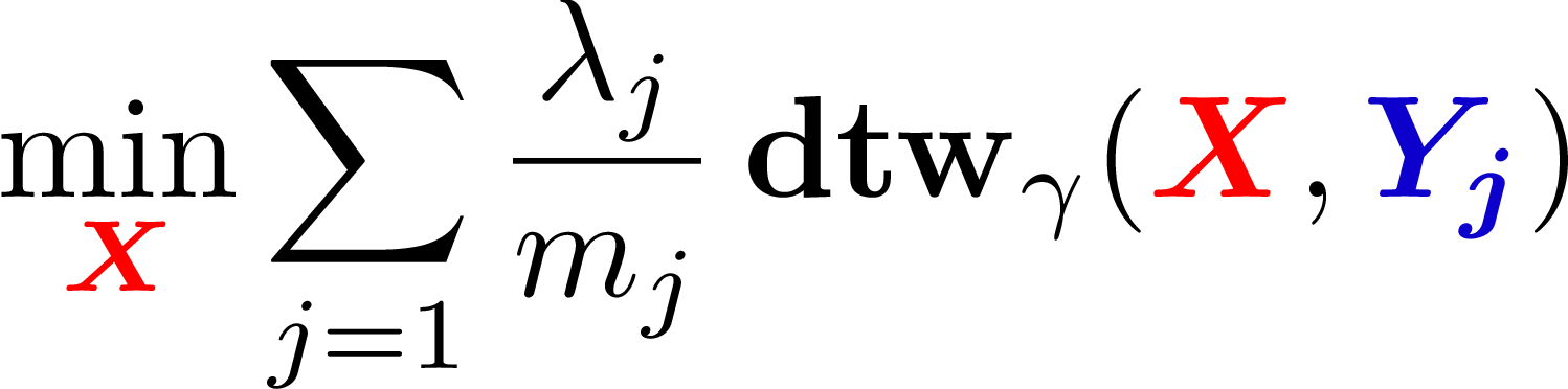 Figure 1 for Soft-DTW: a Differentiable Loss Function for Time-Series