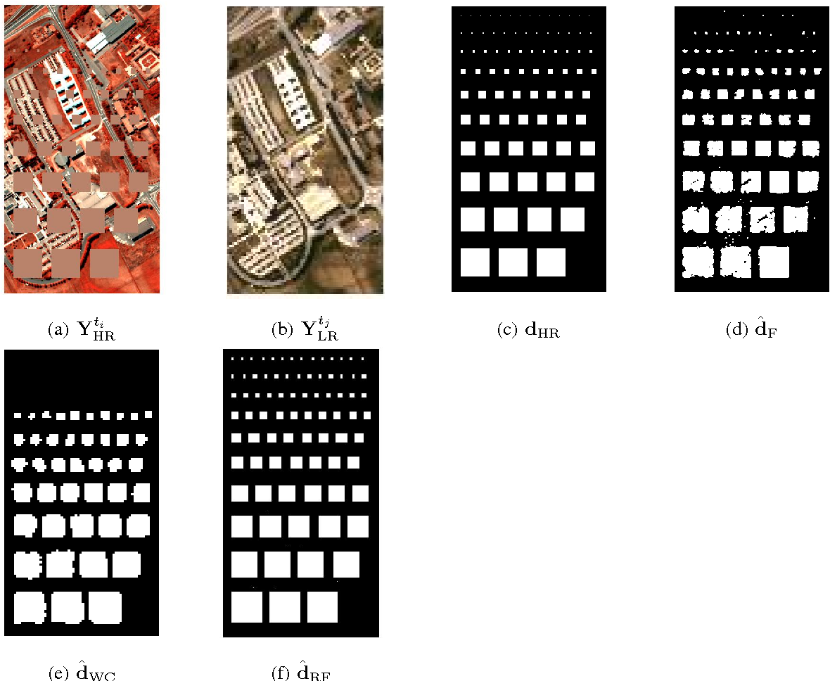 Figure 4 for Robust Fusion of Multi-Band Images with Different Spatial and Spectral Resolutions for Change Detection