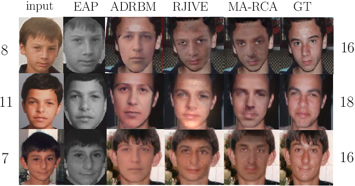 Figure 4 for Multi-Attribute Robust Component Analysis for Facial UV Maps