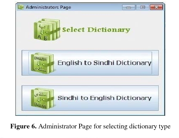 Figure 6 from Unicode Based Bilingual Sindhi-English Pictorial