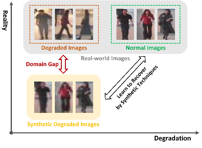 Figure 1 for Real-world Person Re-Identification via Degradation Invariance Learning