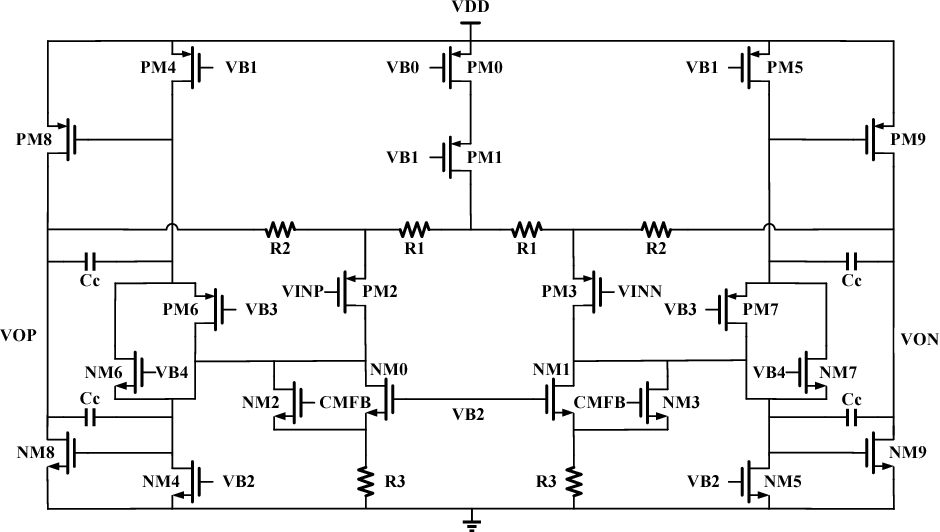 Low Power Low Noise Amplifier with DC Offset Correction at 1 V