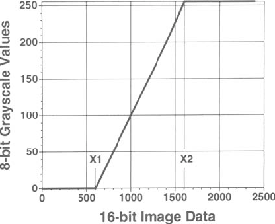 Optimized algorithms for displaying 16-bit gray scale images