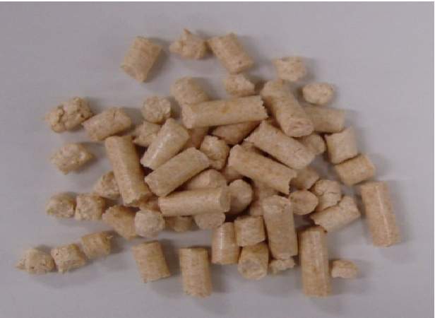 Figure 1. Wood pellets (made from tree trunks).
