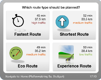 Experience Maps: Experience-Enhanced Routes for Car