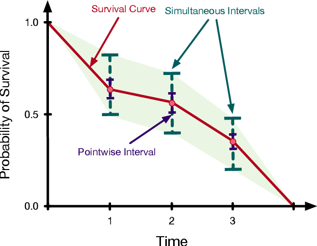 Figure 1 for Simultaneous Prediction Intervals for Patient-Specific Survival Curves