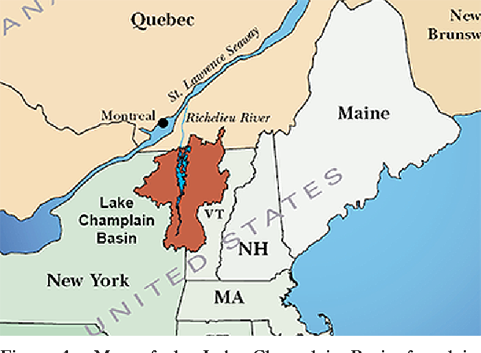 Map Of New York And Quebec.Figure 1 From School Articles A Comparison Of Laboratory Reared