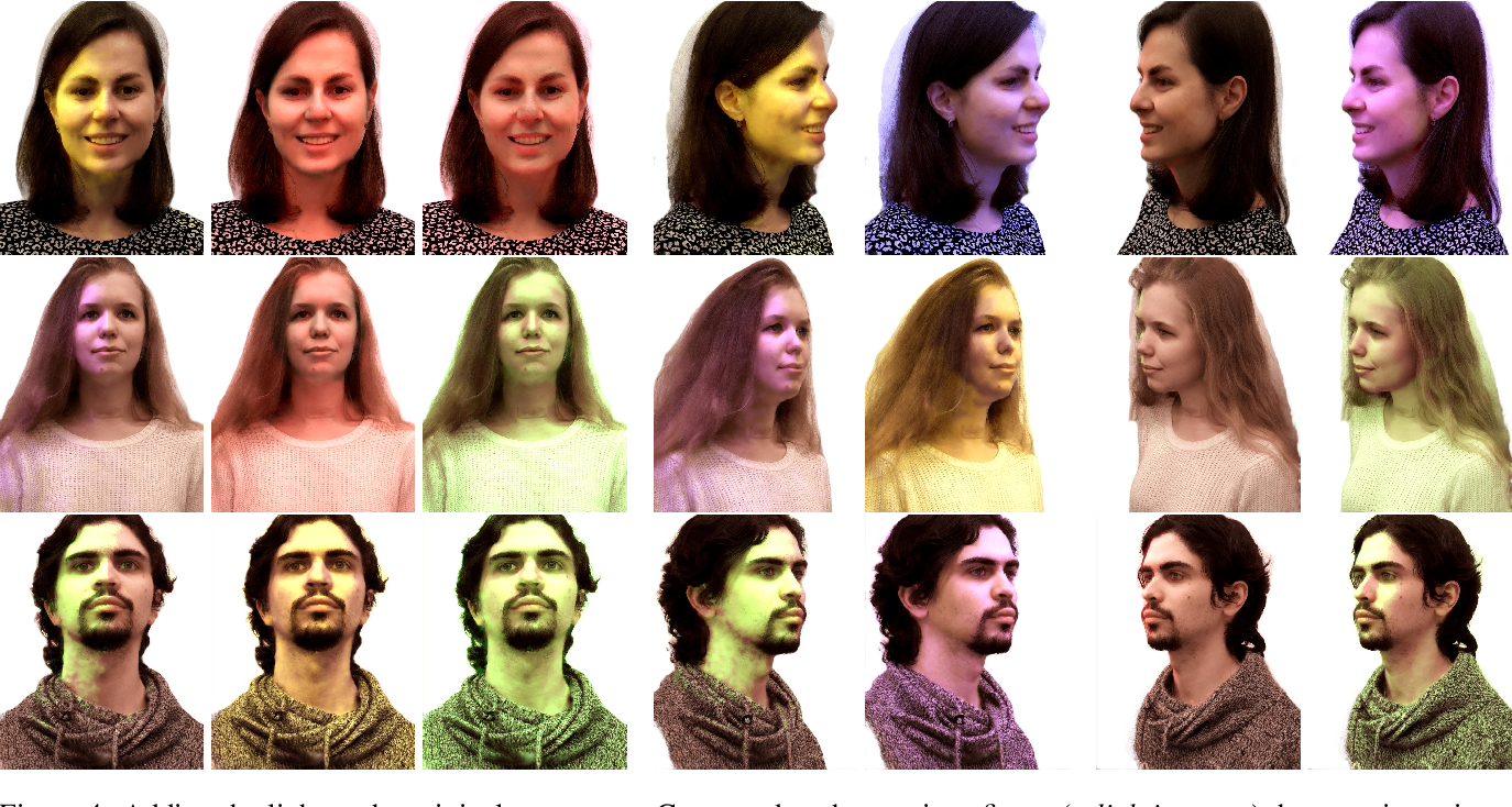 Figure 4 for Relightable 3D Head Portraits from a Smartphone Video