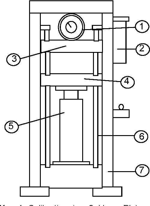 Fig. 1. Schematic diagram of the hydraulic press. volume flow rate and matching these characteristics with an available input to the system to sustain operation.