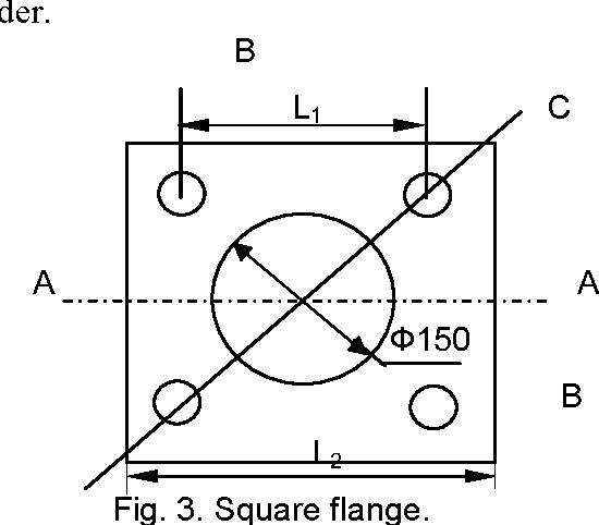 Fig. 3. Square flange.