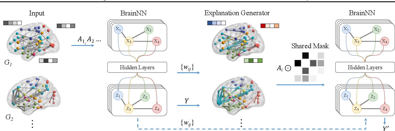 Figure 1 for BrainNNExplainer: An Interpretable Graph Neural Network Framework for Brain Network based Disease Analysis